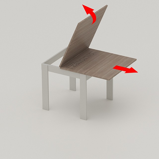 SLIDE MECHANISMS FOR FOLDING TABLE LEAF